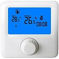 NAYUKY Pantalla LCD Caldera Mural de Gas Controlador de Temperatura del termostato programable semanal Habitaciones Calefacción