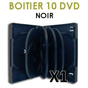 Gehäuse für 10 DVD, Farbe schwarz, 1 Stück (Paris Center Stück)