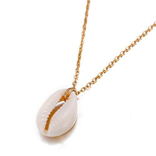 STRASS & PAILLETTES Halskette Anhänger Muschel Natur Goldkette Halskette Echte Schutzhülle Muschel mit goldfarbener Kette