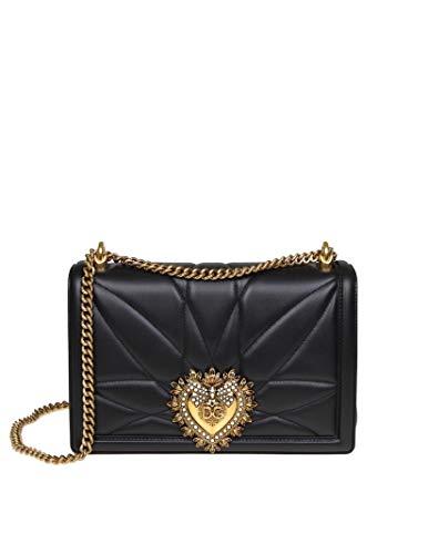 Dolce E Gabbana Borsa A Spalla Donna Bb6651av96780999 Pelle Nero
