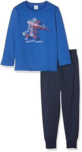 Sanetta Jungen Zweiteiliger Schlafanzug Pyjama Long, Blau (Saphir 5145.0), 140