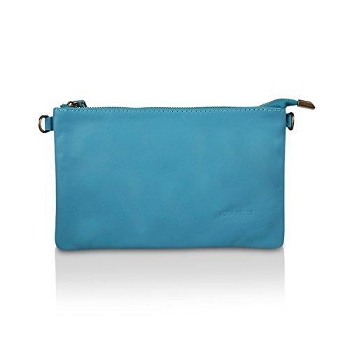 Glamexx24 Borsa vera Palle da Donna a mano , Casual Borsetta a tracolla, elegante Clutch Made in Italy 1.009 1.009.4 Blu