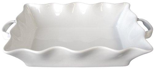 BIA Cordon Bleu Wavy Collection 3-Quart Rectangular Baker with Handles, White by BIA Cordon Bleu 3 Quart Baker