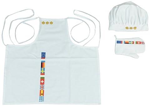 Klein - 9014 - Jeu d'imitation - Tenue de cuisinier avec tablier, toque et gant de cuisson