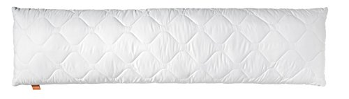 #sleepling Medical Seitenschläferkissen Stillkissen aus Softer Mikrofaser 40 x 145 cm, 1.200 Gramm Füllgewicht mit Reißverschluss, weiß#