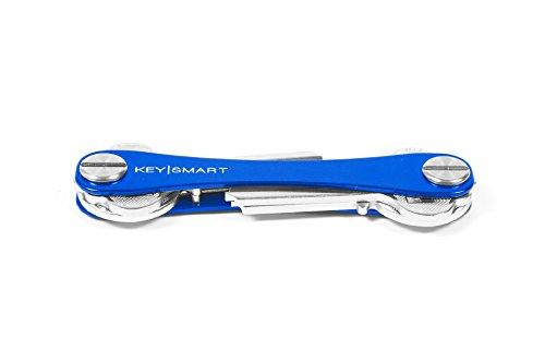 KeySmart - Compact Key Holder (Extended Blue) by Keysmart
