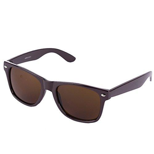 Hornbrille 50er Jahre Stil Sonnenbrille (Braun (Braune Gläser))