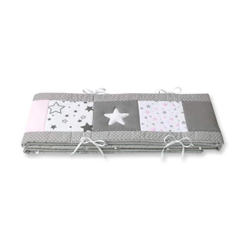 Amilian® Bettumrandung für Kinderbett Baby Nest Kopfschutz Nestchen Bettnestchen Baby Kantenschutz (MIX 22, 210cm (für das Babybett 140x70cm- Kopfschutz))