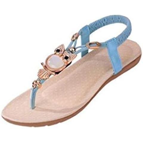 Vovotrade® Scarpe Donna strass Gufo dei sandali della punta della