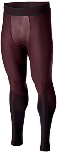 Under armour, heatgear armour 2.0 legging grphc, pantacollant, uomo, blu (techno teal/nero), m