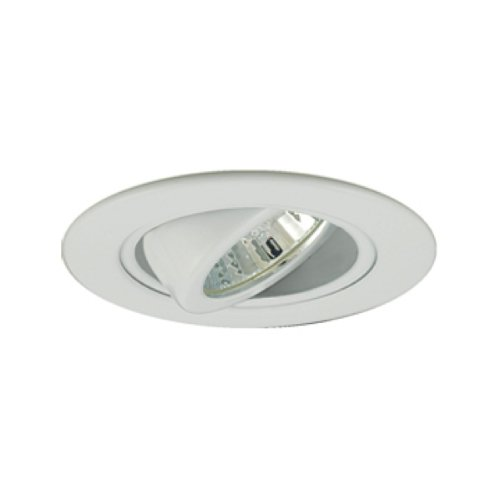 Jesco Lighting TM308WH 3-Inch Aperture Low Voltage Trim Recessed Light, Adjustable Gimbal Ring, White Finish by Jesco Lighting Group (White Trim 3)