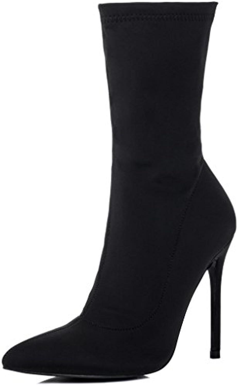 Reissverschluss High Heel Stilettoabsatz Stiefeletten Schuhe Gr 40