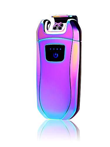 USB Elektro Feuerzeug,Dopple Lichtbogen Feuerzeug Elektronisch Aufladbar Lighter Flammenlose Feuerzeug (Elektro-kamin Auto)
