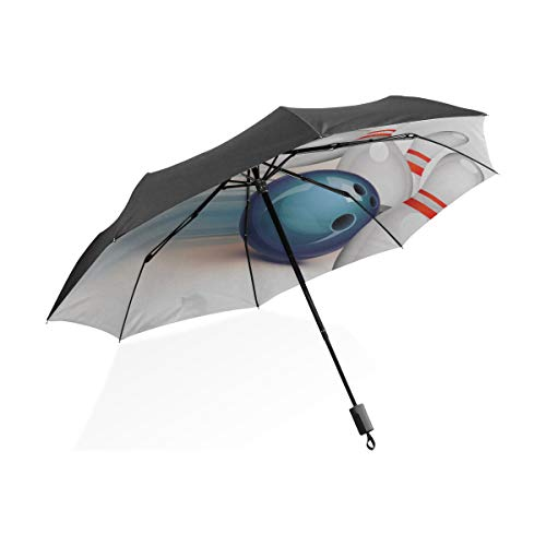 Auto Umbrella Bowling Ball Schlagen alle tragbaren kompakten klappbaren Regenschirm Anti-UV-Schutz Winddicht Outdoor Travel Women Fun Umbrella