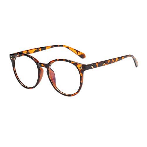 Meijunter Oval Rahmen Eye Protection Gläser - Anti UV Computer Spiel Blue Light Blocking Brille Reis Nagel Beine Männer Frau Glasses (Leopard Druck)