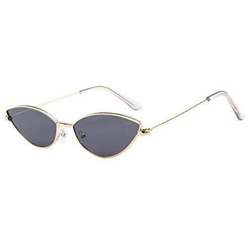 Dragon868 Sonnenbrille Damen Herren Cateye Kleine Rahmen Oval Retro Vintage Sonnenbrille Brillen (B)