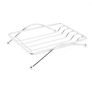 SODIAL(R) Bathroom Shower Soap Holder Stainless Steel Rack Tray Strainer 4.3