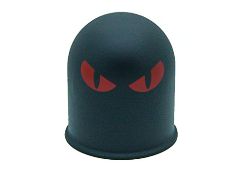 Schutzkappe Anhängerkupplung Dämon Teufel Evil Eye Cap 2 / Böser Blick 2 rot