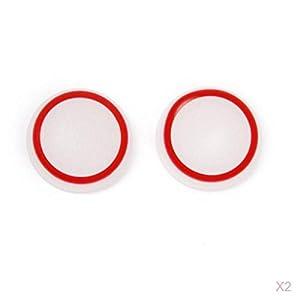 2 Paar Leuchtend Rot Joystick Daumen Kappen für PlayStation 4 PS4 Steuerung