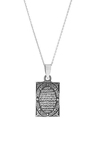 Remi Bijou 925 Silber Halskette mit Anhänger 'Gebet' Islam Allah Muslim Kuran Koran Quran (Quran Halskette)