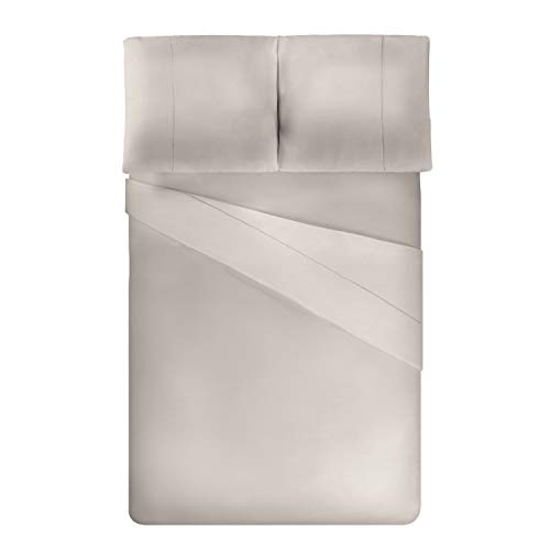 ViscoSoft - Housse de Couette en Microfibre avec Finition Venise + 2 taies d'oreiller