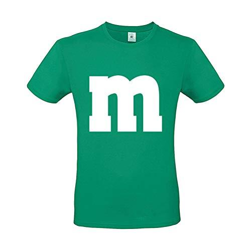 Kostüm Gruppe Eine - Shirt-Panda Herren T-Shirt M&M Karneval Gruppen Kostüm Fasching Verkleidung Party Darts Unisex Kinder Grün 3XL