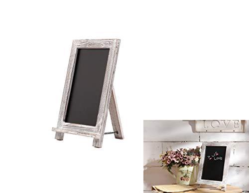DIPAMKAR® Rustikale weiß getünchte Tafel, Aufsteller Kreidetafel - ideal für Küche Dekor, Hochzeiten, Restaurant Menüs 24x35cm