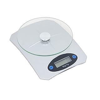 5KG Digitale Küchenwaage, Digitalwaage, Elektronische waage, Hohe Präzision auf bis zu 1g (5kg Maximalgewicht), Porto Wiegen, Großem LCD-Display