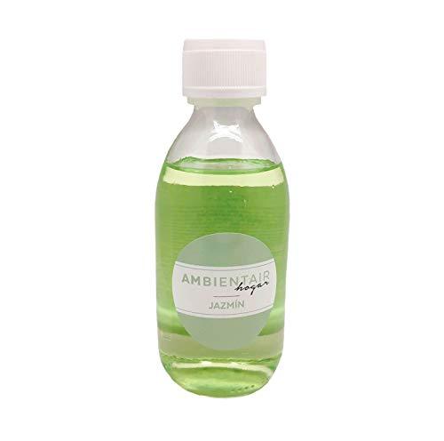 Ambientair Fragancia Jazmín Recambio Mikado, Cristal, Verde, 250Ml