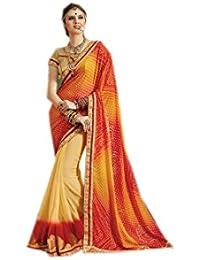 Mantra Fashions Women's Georgette Saree (Mant10_Multi)