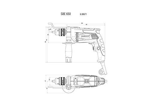Metabo Schlagbohrmaschine, Koffer, SBE, 650 W, 600671510 - 2