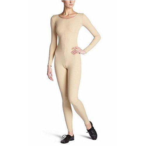 Mädchen Kostüm Tutu Mumie - Catsuit Ballet Tanz Damen Mädchen Ganzkörper Tanz Kleid Fitnessstudio Catsuit - Aprikose, L