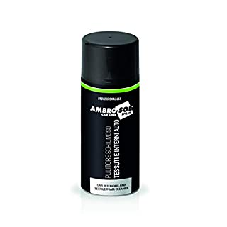 Ambro-Sol A471 Car Interiors and Textile Foam Cleaner Spray, White