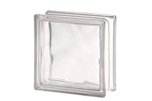 10er Pack - Glasbaustein Wolke weiß 19x19 cm