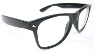 Low Cost, Clear Lens Geek/Nerd Retro Wayfarer Glasses. Ideal for Garth Wayne's World dress-up