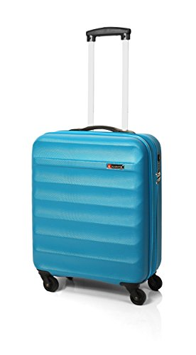 GLADIATOR MALETA DE CABINA ABS RIGIDO 4 RUEDAS GROW UP EN AZUL