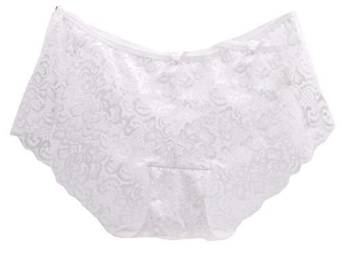 TTYLLMAO Women's Sexy Lace Lingerie Hollow Boyshorts Underwear 5 Pack