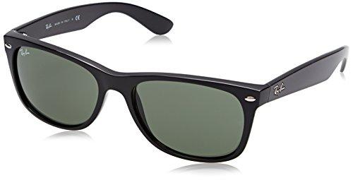 Ray Ban Herren Sonnenbrille New Wayfarer, Black, Large (Herstellergröße: 58)