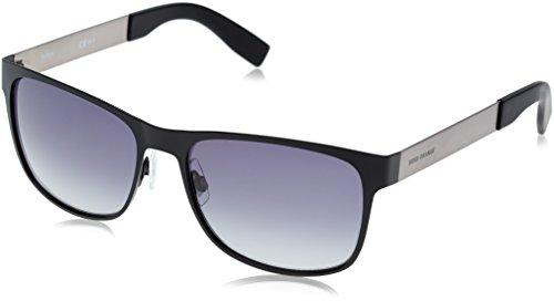 Boss orange bo 0197/s hd aab, occhiali da sole uomo, nero (black semimatte dark rust/grey sf), 57