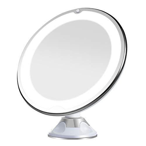 Artemis 10x Aumento Espejo con Luz Led Espejo de Aumento Espejo de baño para maquillarse depilarse...