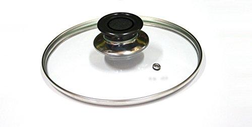 Takestop® coperchio vetro temperato diametro 30cm per padella pentola casseruola tegame su gas piastra lavastoviglie cc_2097