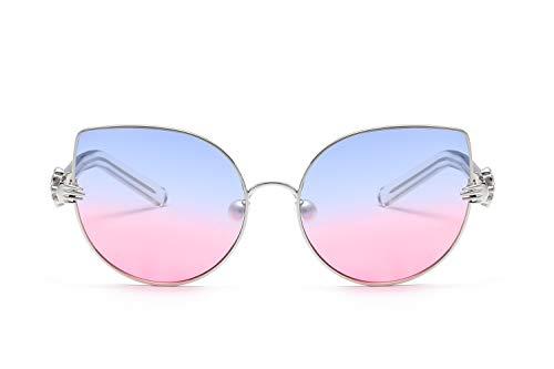ZJWZ Sonnenbrillen Persönlichkeit Mode Metal Sonnenbrille literarische Katze Augen Damen Sonnenbrille,NO5