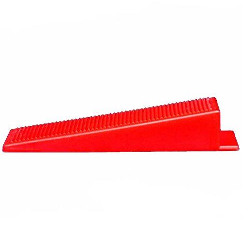 Fliesenkeile 100 Stück Montagekeile Kunststoff für Bau, Fenster Montage Tile Nivellierunterlage Tiling Werkzeug Tile-Locator Leveler Einbaubohle  Keil