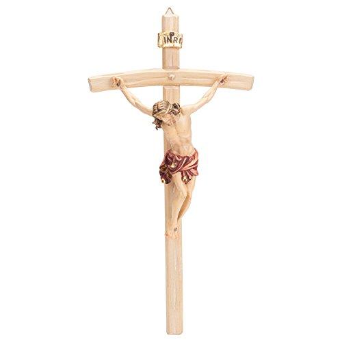 Dolfi Corpus Body Gebogen handgeschnitzten Wandbehang aus Holz Kruzifix Kreuz Large Natur -