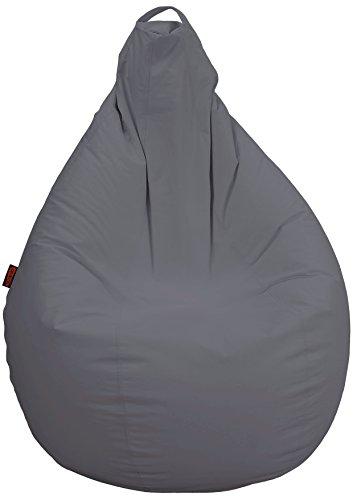 Puff de Pera Adulto XL Polipiel Gris Ceniza (85x85x135)