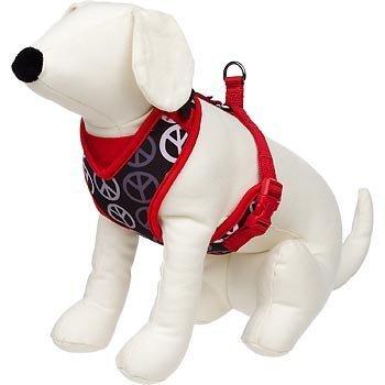 petco-en-maille-rglable-harnais-pour-chien-en-rouge-et-noir-avec-la-paix-signes