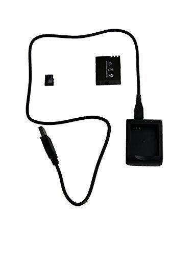 TecTecTec Carte Micro Sd 32 Go, Chargeur et Batterie pour Action Cam de Sport XPRO1