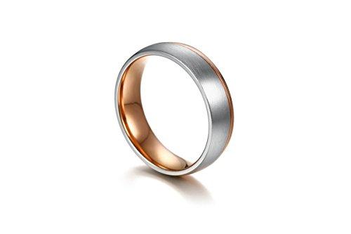 SonMo Ring 925 Damen Trauringe Verlobungsring Paarringe Runden Ring Zirkonia Herren Rose Gold 0.6CM Eheringe Gold Halbes Herz Zirkonia für Frauen 60 (19.1)