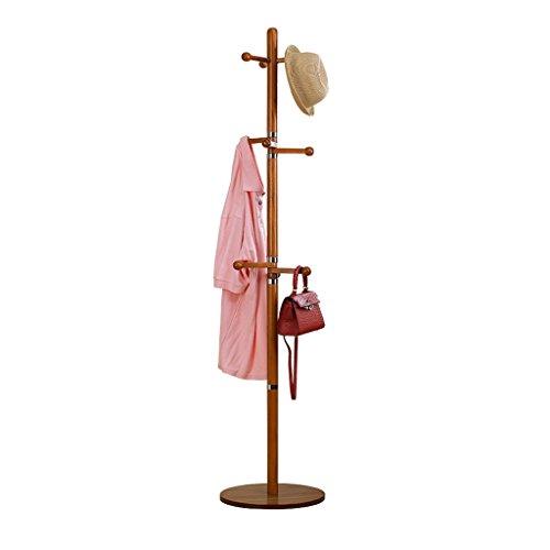 SKC Lighting-Porte-manteau Solide Bois Manteau Rack Simple Mode Cintre Chambre Maison Chapeau Stand Creative Européenne Vêtements Rack (40 * 40 * 175CM) (Couleur : B)