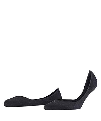 FALKE Damen Invisible W IN Nicht sichtbare Füßlinge Step Baumwoll Sneakersocken 1 Paar, Blickdicht, Schwarz (Black 3009), 37-38